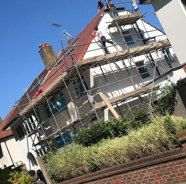 new roof and roughcast in fife