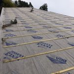 new roof being completed
